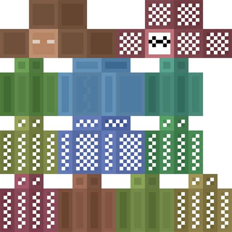 Descargar Template Render Minecraft Profesional by How To Edit The Minecraft Skin Template 3dspace
