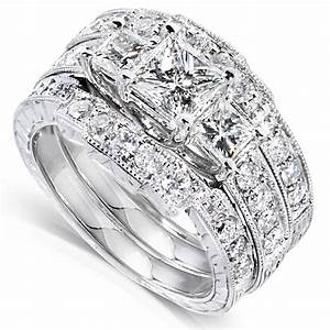 Wedding ring sets for him and her white gold diamond for Diamond wedding ring for him