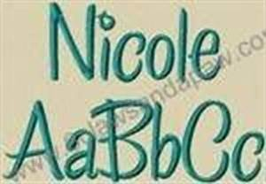 nicole embroidery font by 8clawsandapawcom applique With nicole s letter shop
