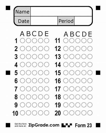 Answer Bubble Sheet Multiple Choice Question Questions