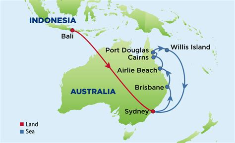 map  bali sydney  australias east coast