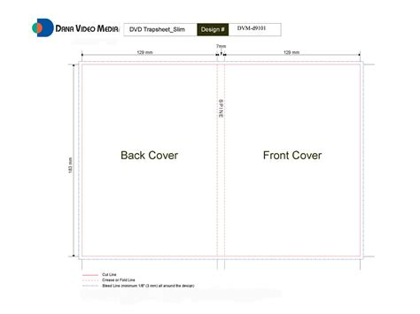 Slim Insert Template by Slim Dvd Cover Template Get Domain Pictures