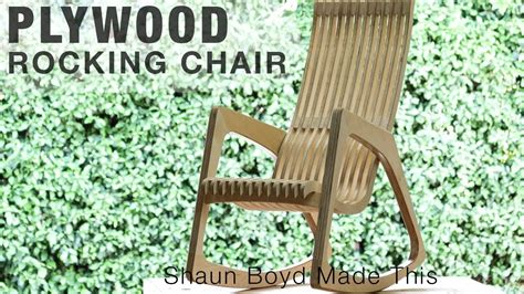building  modern plywood rocking chair   sheet