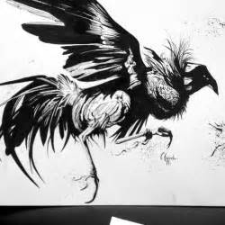 Fighting Rooster Tattoo Drawings