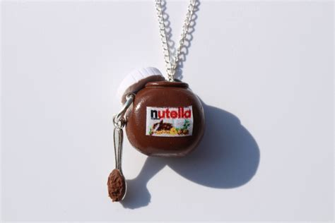 nutella necklace miniature food jewellery kawaii nutella jar