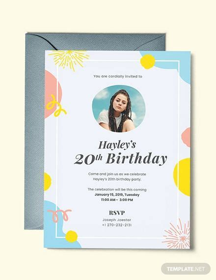 birthday invitation template  photo  images