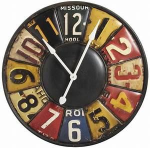 Horloge En Metal : horloge murale r tro en m tal ~ Teatrodelosmanantiales.com Idées de Décoration