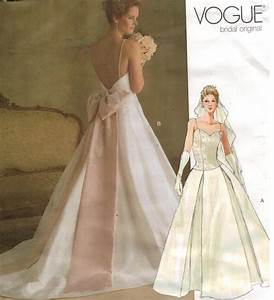 vogue pattern 2849 wedding bridal gowns sizes 6 8 10 With vogue wedding dresses