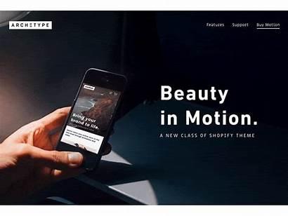 Shopify Theme Themes Motion Archetype Boundless Dribbble