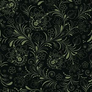 Dark Elegant Green Floral Seamless Pattern - WeLoveSoLo