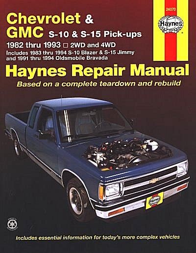 best car repair manuals 1993 gmc jimmy electronic valve timing s 10 pickup blazer s 15 jimmy typhoon repair manual 1982 1993