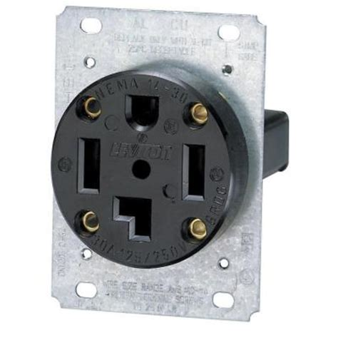 leviton  amp industrial flush mount single power outlet