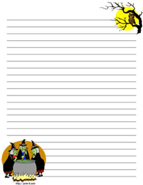 halloween witch stationery  printable writing paper