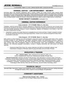 criminal justice resume objective exles objective resume criminal justice