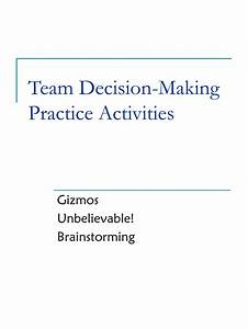 PPT - Team Decision-Making Practice Activities PowerPoint ...