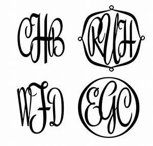 unique three letter script monogram stencil With monogram letter stencils free