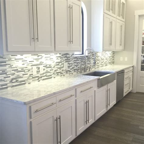 kitchen backsplash tile with white cabinets glass backsplash tile white modern brown cabinet gray