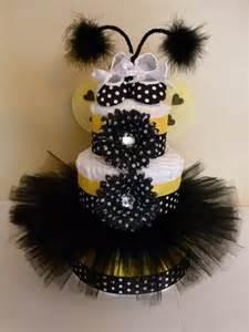 Baby Bee Diaper Cake Tutu