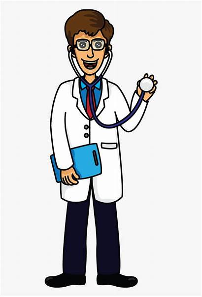 Doctor Clipart Drawing Cartoon Easy Transparent Cliparts