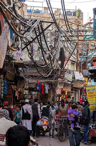 Electric Power Lines Wiring Street India
