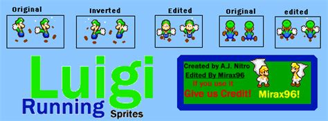 Luigi Running Sprites By Mirax96 On Deviantart