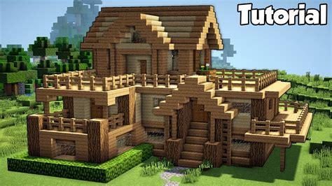 minecraft starter house tutorial   build  house  minecraft easy youtube