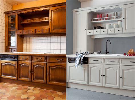 meuble cuisine repeint opération relooking pas cher pour la cuisine relooker sa