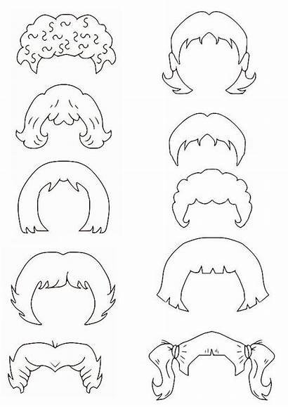 Coloring Hair Pages Curly Template Printable Templates