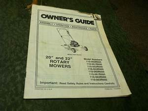 Mtd 20  22 U0026quot  Rotary Lawn Mower Owners Operators Parts List