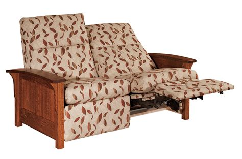 Mission Loveseat Recliner by Panel Mission Loveseat Recliner With Optional Power Recliner