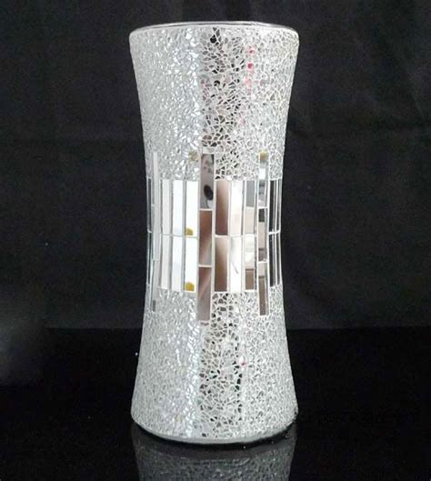 Cheap Flower Vases by Handicraft Silver Decorative Cheap Mirror Flower Glass