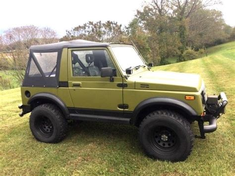 1986 suzuki samurai 4 x 4 whole wheels rhino