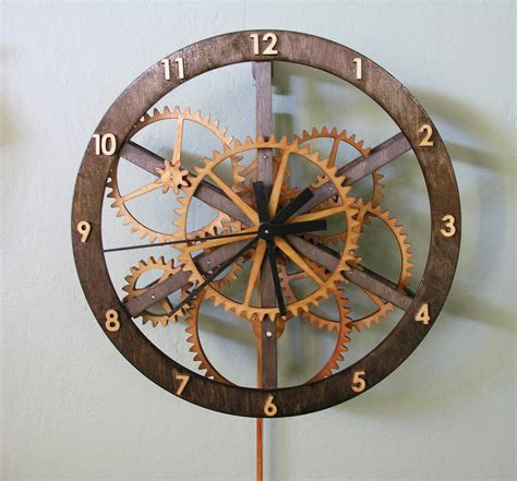 wood clock plans dezignito