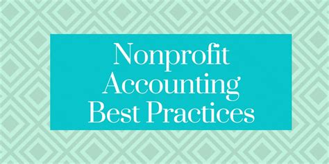 good accounting practices  nonprofits capital