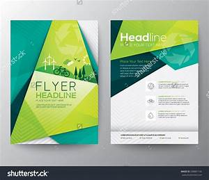 Abstract triangle brochure flyer design vector template in a4 size program booklet design for Create free brochure