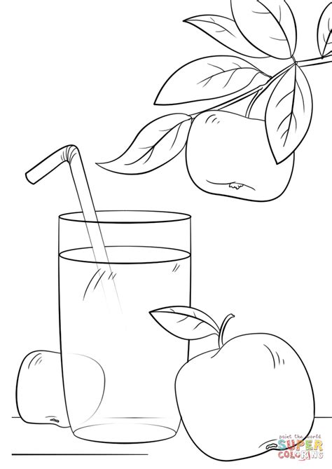 Coloring Juice by Apple Juice Coloring Page Free Printable Coloring Pages