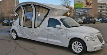 wedding limo this russian pt cruiser wedding limo is the worst thing