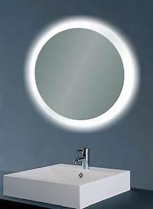 Miroir Rond Lumineux : miroirs de led lumineux par ip44 avec la sonde swith ~ Zukunftsfamilie.com Idées de Décoration