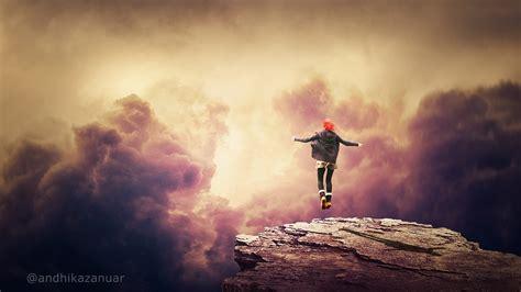fantasy sky background photoshop manipulation tutorial