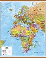 Europe Middle East Africa EMEA Political Map Poster with ...