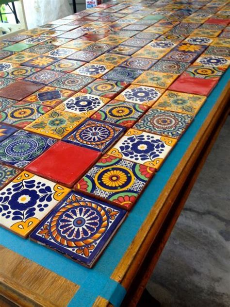 mexican tile coffee table mexican tiled table azulejos pinterest mexicans