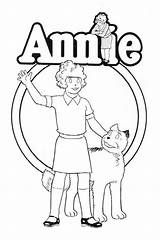 Annie Coloring Pages Orphan Musical Theatre Little Movie Theater Drawing Printable Sheets Sheet Armstrong Classic Costume Print Broadway Posters Friends sketch template