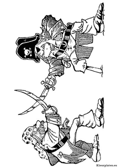 Kleurplaat Praten 2 Personen by Piraten Kleurplaat 6052 Kleurplaat