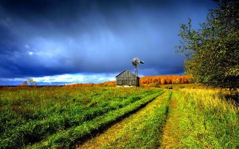 Free download Beautiful Farm House Windmill Hd Wallpaper ...