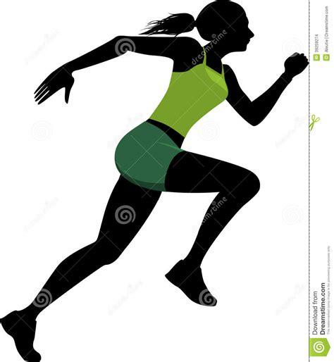 Female Runner Silhouette Stock Vector - Image: 39259274