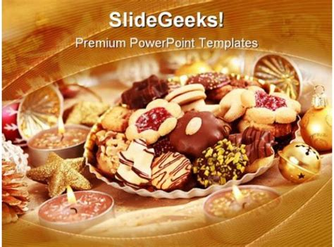 delicious christmas cookie holidays powerpoint templates
