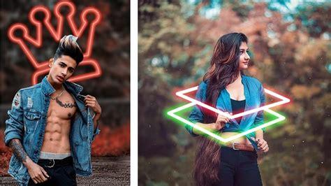 picsart neon background effect picsart editing tutorial