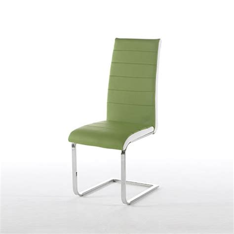 top green faux leather dining chair 22654 furniture in