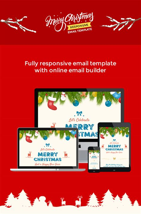Themes Templates For 2 Items Per Product Page by Christmas And New Year Responsive Email Template With