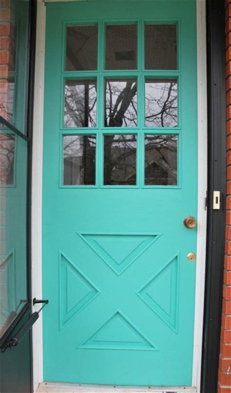 hometalk  diy turquoise front door